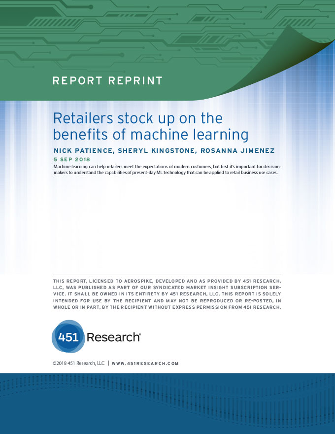 Retailers stock up on the benefits of machine learning - 451 Research