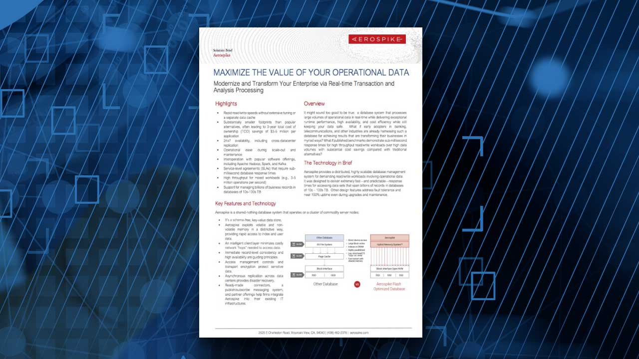 Maximize the Value of Your Operational Data