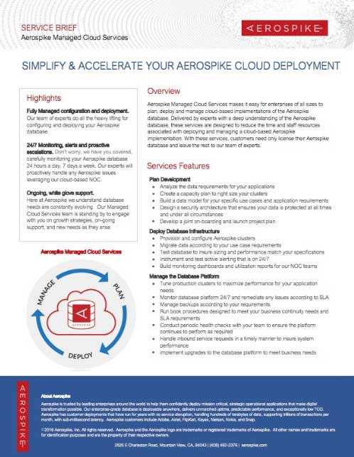Simplify & Accelerate Your Aerospike Cloud Deployment
