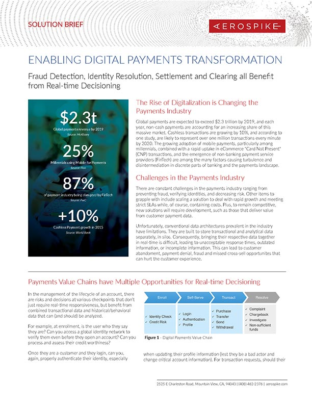 Enabling Digital Payments Transformation - Solution Brief
