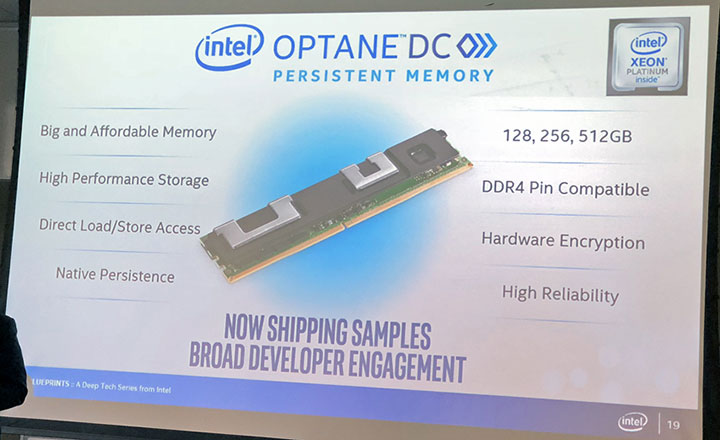 Intel Releases Optane DC Persistent Memory