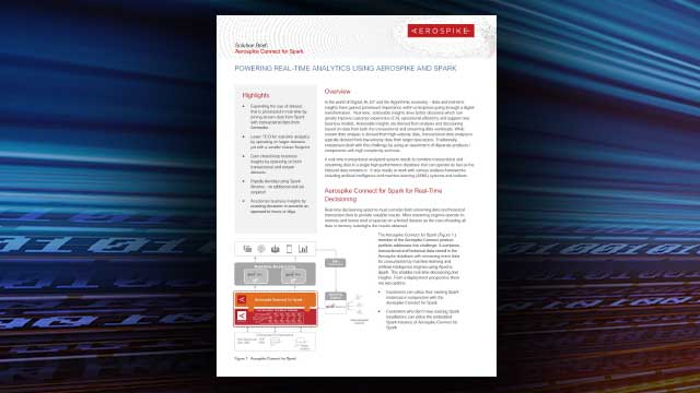 Aerospike Connect for Spark Solution Brief