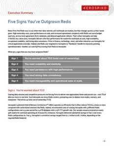 Five Signs You've Outgrown Redis - Executive Summary