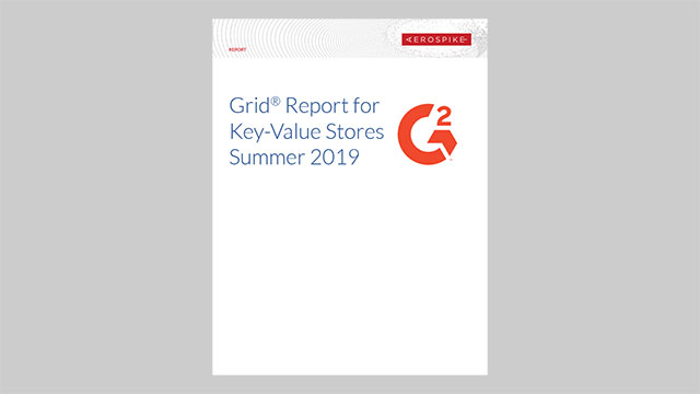 G2 Grid Report for Key-Value Stores Summer 2019