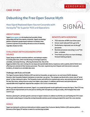 Debunking the Free Open Source Myth - Signal Case Study