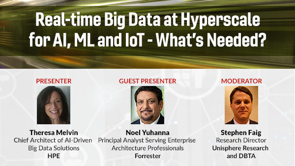 Webinar: DBTA - Real-time Big Data at Hyperscale for AI, ML and IoT - What's Needed?