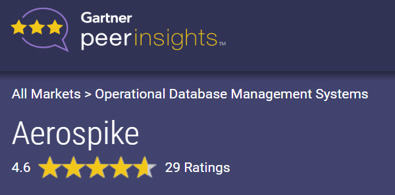 Gartner Peer Insights - Aerospike - 4.6 Rating