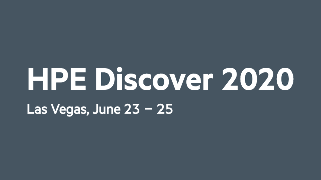 HPE Discover 2020