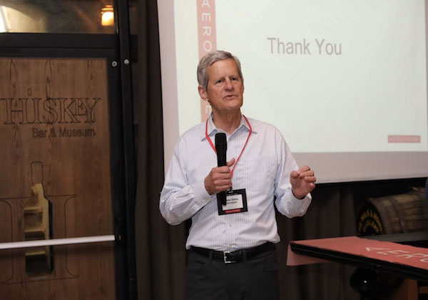 John Dillon, Aerospike CEO, at an event