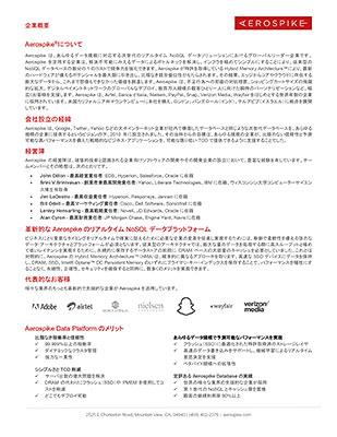 Aerospike Company Fact Sheet (Japanese)