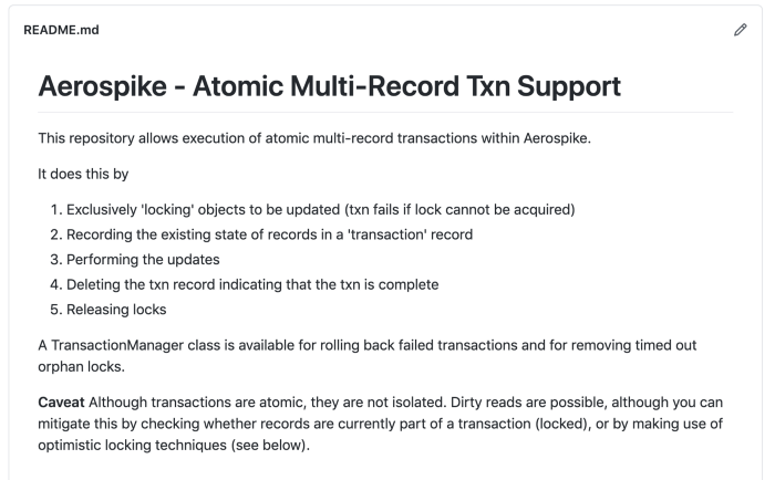 Atomic Multi-Record TXN Support