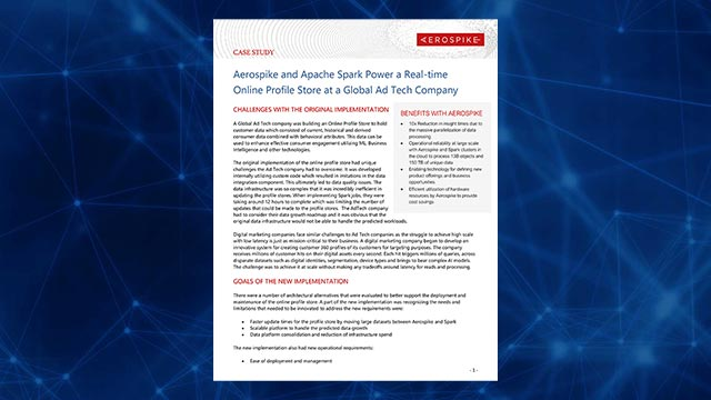 Aerospike Connect for Spark Case Study
