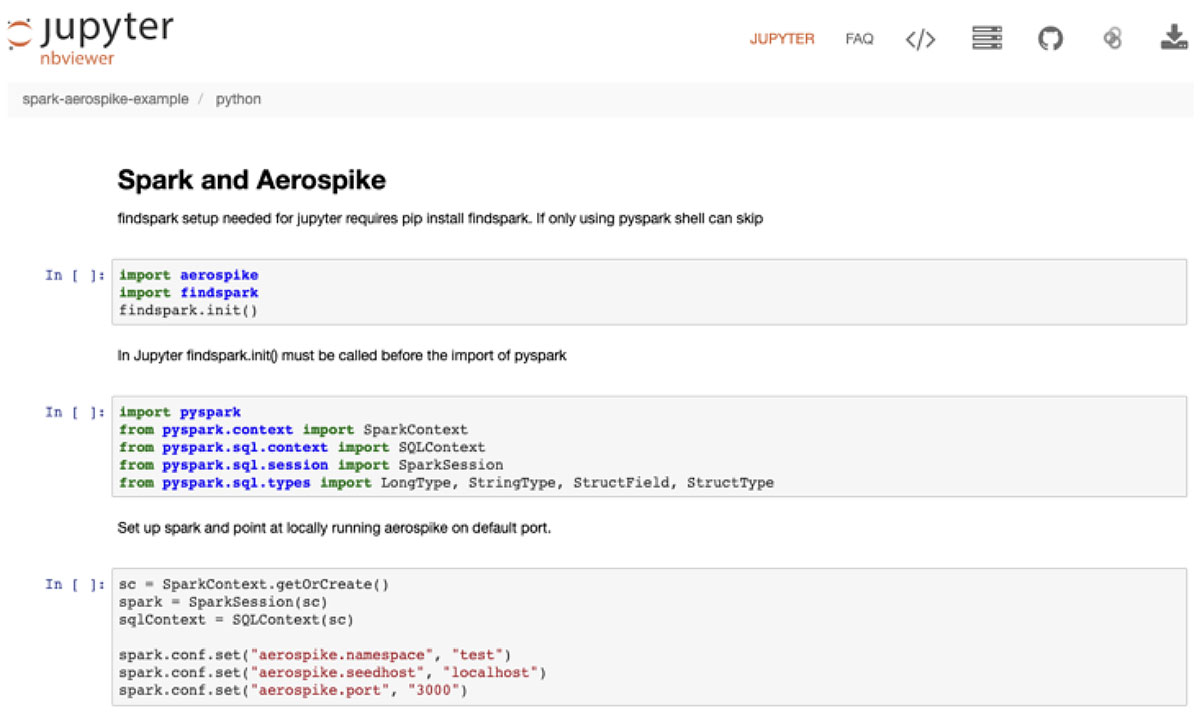 Connect for Spark tutorial example on Jupyter