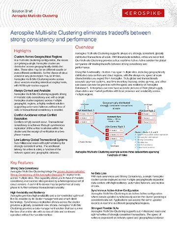 Aerospike Multi-site Clustering Solution Brief