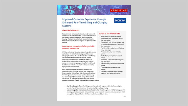 Nokia Networks Case Study: Improved Customer Experience through Enhanced Real-Time Billing and Charging Systems