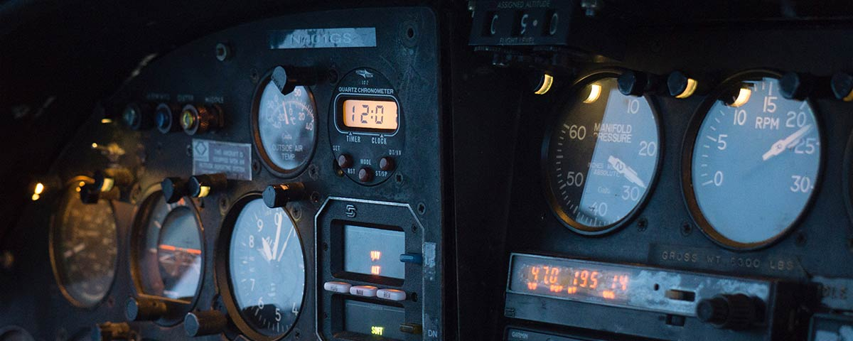 instrument gauges photo by Kent Pilcher