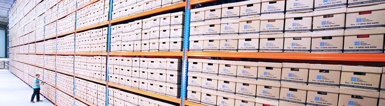 Warehouse full of records - photo by Nana Smirnova